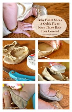 Baby Ballet Shoe Quick Fix from Craft Quickies - Brilliant!