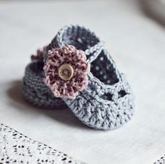 zapatos bebé crochet