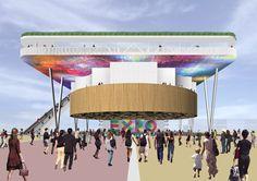 Italian Pavilion rendering by Andrea Maffei