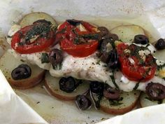 fish dishes for dinner | fish wrapped in parchment is like getting a little gift at the dinner ...
