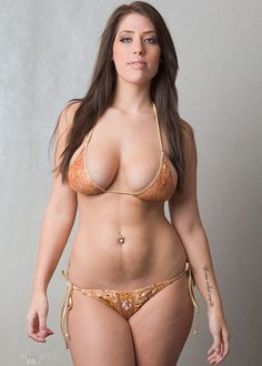 a beautiful plus size girl that could look awesome in a bikini if she'd leave a little more to the imagination
