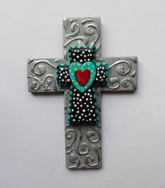 Found object faux metal decorative wood by CrossMyArtByLynnWebb, $28.00