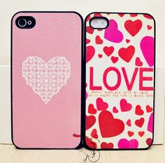 "Sweet ""Love"" Heart Print Cover for Iphone4/4S - iPhone Cases - Cases Guess You Like It"
