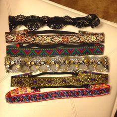 DIY hippie headbands: elastic & pretty ribbon