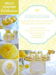 Yellow paper pom-poms and cupcake holders