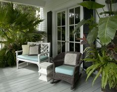 Home and Garden, Southern porches, tropical plants
