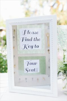 find the key to your seat