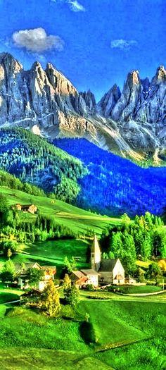Val di Funes Valley, Tirol, Italy