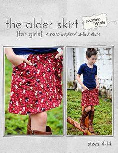 pattern releas, sew pattern, alder skirt