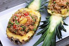 Chili Mango Shrimp Pineapple Fried Rice