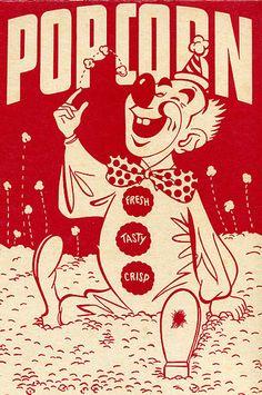 Almost Cute Clown put still Cute Vintage Popcorn Poster