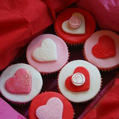 Valentine cupcakes. Could use cream cheese frosting, and cream cheese mints for decoration.