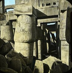 nineteenth century photos of egypt | The condition of the temple at Karnak before restoration.