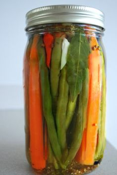 Cajun-style Pickled Green Beans & Carrots