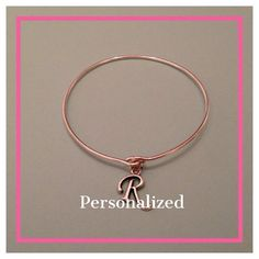 Personalized Monogram Initial Bangle Bracelet by 28Four on Etsy, $16.00