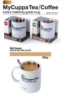 match coffee by color! guarantee no one gets your coffee wrong again. :)