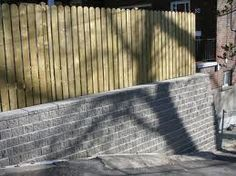 fence retaining wall - Google Search