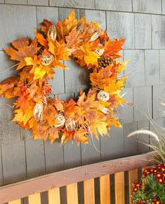 fall diy wreath - traditional fall