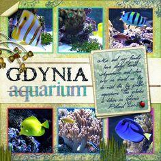 Aquarium Scrapbook Page