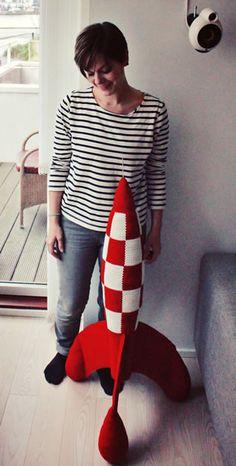 Crochet Tin Tin Rocket