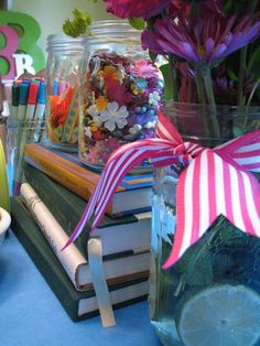 Book-themed birthday party for kids.