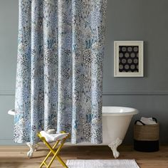 Sarah Campbell Garden Path Shower Curtain from west elm #colorcrush