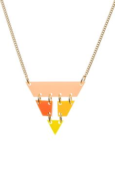 Summer Exclusive Pyramid Necklace - £30: http://www.tattydevine.com/shop/featured/new-in/pyramid-necklace-citrus.html