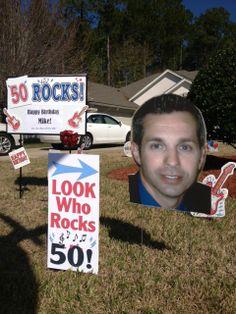 50th Birthday Idea #50 #Idea #Party