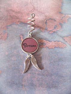 Pink Dream Angel Wing Dread Bead Dreadlock Coil by DreadedDoodle, $14.00