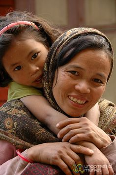 Mother and child from Dharapani, Nepal