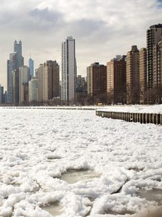 Animated Lake Michigan Ice Floes Captured by Dave Gorum