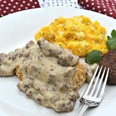 "Gluten-Free Sausage Gravy | ""We are not a gluten free family but I had some gluten-free flour left over from a family member's visit so I thought I would give this recipe a try. It was really tastp"