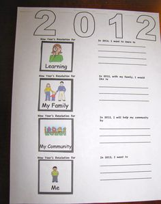New Year's resolutions for kids.
