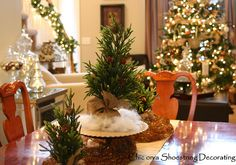 Christmas Centerpiece Dining Room Table