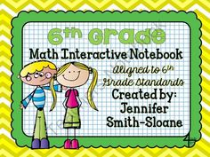 6th Grade Interactive Notebook Bundle- All Standards from 4mulaFun on TeachersNotebook.com -  (300 pages)  - 6th Grade Interactive Notebook Bundle- All Standards
