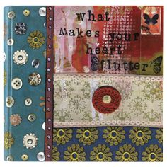 """What Makes Your Heart Flutter?"" photo journal by Kelly Rae Roberts $22.00"
