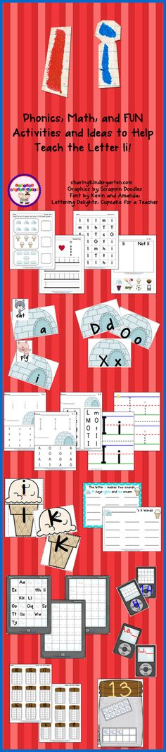 Letter Ii pack... so much fun and lots of printables... see link for FREE phonics sheets!