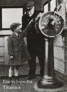 Cpt. Smith shows a young lad the workings of the ship