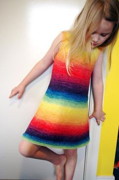 Rainbow Dress knitti