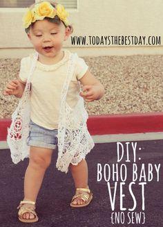 DIY Boho Baby No-Sew Vest - SO easy, anyone can do it!