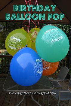 Birthday balloon pop