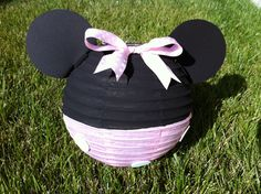 Minnie Mouse Light Pink Inspired Paper Lantern by adingkaki, $9.00