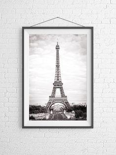 Paris Fine Art Photograph - The Eiffel Tower, Black and White Home Decor