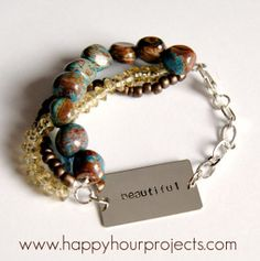 Mix and Match Beaded Bracelet | AllFreeJewelryMaking.com