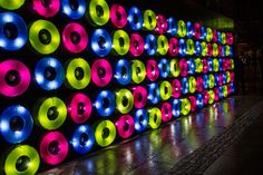 Floating Lights by Travesias de Luz at the Lyon 2012 Festival of Lights