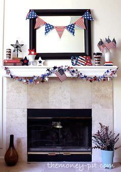 The Money Pit: Fourth of July Mantle for Under $10