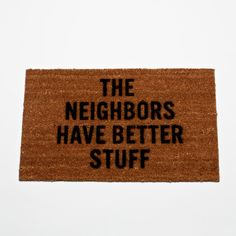 """Defense Mat"" This is a funny door mat. $20 via Fancy designed by Reed Wilson"