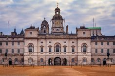 Horse Guards Parade, Whitehall, London, England  This is the backside