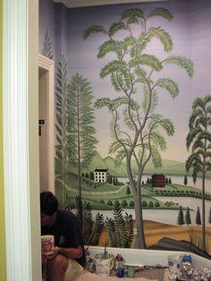 rufus porter style mural