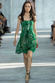 DVF brought out the runway greats for Spring 2015. See the supermodels and the collection on Vogue.com.